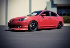 WellVisors For 04-09 Mazda 3 Sedan Premium Series Side Window Visors Deflectors