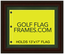 16x20 Brown Flag Frame, brn-005, holds 13x17 Masters Golf Flags; Flag Not Incl