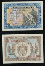 """ESPAÑA 1 peseta Junio 1940 """"Hernan Cortes"""" serie A. nº 4180581. SC. PLANCHA."""