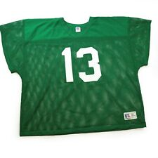 VINTAGE NWOT 3XL RUSSELL ATHLETIC MESH GREEN FOOTBALL PRACTICE JERSEY MADE N USA