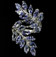 4ct Genuine Tanzanite Ring in 14K Gold Overlay 925 Sterling Silver - Size P
