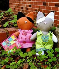 GINGER & MITTENS - Sewing Craft PATTERN - Soft Toy Rag Doll Cat Kitten Pussy Cat