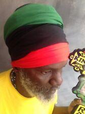 Rasta turban Marcus Garvey pan Africa Rasta hat headwrap unisex easy headwrap