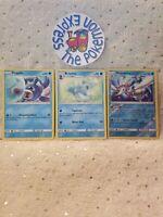 Pokemon TCG Popplio #64/214 Brionne #66/214 Primarina #67/214 Rev Holo Water Min