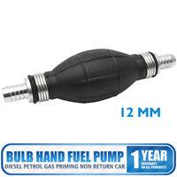12mm Fuel Pump Hand Primer Bulb Type All Fuels Transfer Syphon Non Return Car