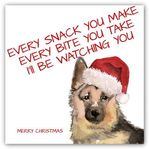 CHRISTMAS German Shepherd Dog Card Xmas Funny Song Lyrics