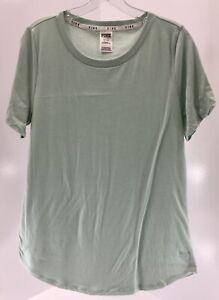 Victorias Secret Pink Womens Short Sleeve PJ Shirt Color Mint Green Large NEW #