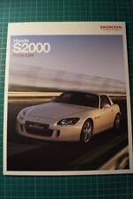 Honda S2000 Price List Brochure 01/2009