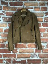 $295 ASOS XXS 32 Suede Leather New York Cafe Racer Biker Motorcycle Jacket