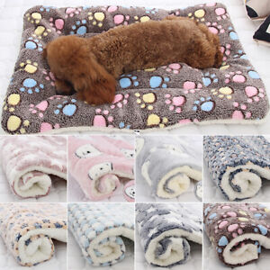 Pet Blanket Cat Dog Puppy Bed Mattress Kennel Soft Fleece Calming Sleeping Mat