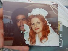 1970s multi cultural wedding   photograph  12 x 10 cm  afro  moustache red head