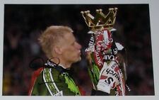 PETER SCHMEICHEL MANCHESTER UNITED PERSONALLY HAND SIGNED AUTOGRAPH 12X8 PHOTO