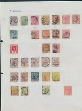 XC16455 Mauritius queen Victoria king George V classic lot used