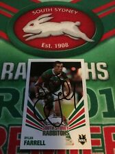 2012 Daily Telegraph NRL Card No 136 Signed Dylan Farrell South Sydney