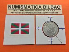 @REVERSO GIRADO@ 2 PESETAS 1937 NICKEL KM#2 EUSKADI GUERRA CIVIL SPAIN BILBAO 1