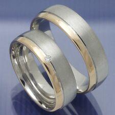 Trauringe Eheringe Hochzeitsringe Verlobungsringe Silber Rotgold - P9159226
