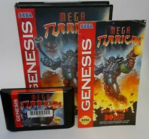 Mega Turrican (Sega Genesis, 1994) complete CIB, tested, authentic