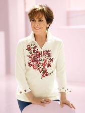Paola Poloshirt mit floralem Druck, ecru/bunt. NEU!!! SALE%%%