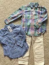 Baby Gap Ralph Lauren Boy Size 3t 2t Button Down Shirt Plaid With Pants Set