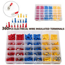 360 Insulated Wire Crimp Connectors Spade Bullet Ring Male&Female Terminals Kit