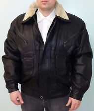 GENUINE LAMB LEATHER COAT JACKET WITH REMOVABLE COLLAR, REMOVABLE LINING SIZE XL