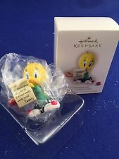 2007 Hallmark Ornament Chwistmas List Tweety Looney Tunes NIB