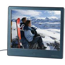 "PEARL Digitaler HD-Bilderrahmen, 20,3 cm / 8"", Edelstahl, ultradünne 3,5 mm"