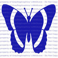Striped Butterfly Vinyl Decal Auto Tattoo Sticker Curly Car Vehicle
