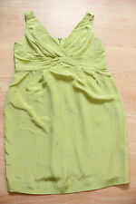 BODEN JASMINE  lime green silk    sleeveless  dress size 12p petite  NEW