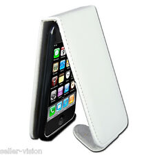 White Leather Flip Case Cover Pouch Holder for Apple iPhone 3G 3GS Magnetic Clip