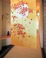 JAPANESE Noren Curtain Maple Momiji Kouyou JAPAN 85 x 150cm