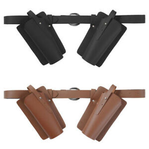 Gothic Waist Belt with Scabbards Sword Belt Accessory Adjustable Buckles Gift HQ