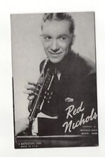 Red Nichols 1940's-50's Mutoscope Music Corp of America Arcade Card Postcard