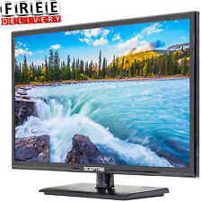 """HD LED TV Sceptre 24"""" Class 1080P Small 16:9 Cabinet Home With Stand New"""