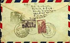 INDIA 1951 AIRMAIL COVER TO MALACCA MALAYA WITH RARE CENSUS CACHET - N44130