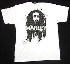 BOB MARLEY T-shirt Reggae Rasta ZION ROOTSWEAR Tuff Gong Tee Adult 2XL White New