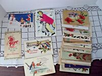 Postcard Lot of 49 Mixed Christmas Vintage Some Have Messages and Stamps