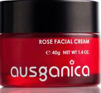 Ausganica - Rose Facial Cream 40gr - Bio Gesichtscreme Antifaltenpflege Anti-Age
