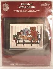 Animal Portrait Janlynn Counted Cross Stitch Kit Beagle Teddy Bear Cat Animals