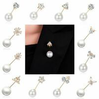Charm Pearl Zircon Star Shawl Pin Brooch Pin Women Costume Jewellery Party Gifts