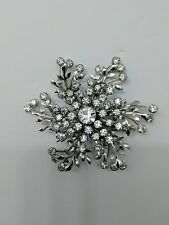 Exquisite Mid 20th Century Flower/Snowflake Crystal Brooch and/or Pendant