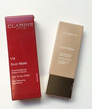 Clarins 114 Cappuccino  Ever Matte Skin Balancing Foundation 30ml