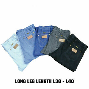 VINTAGE WRANGLER JEANS STRAIGHT LEG DENIM GRADE A LONG LENGTH L38 L40
