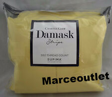 Charter Club Damask Stripe 550 Thread Count KING EXTRA DEEP Sheet Set Lemonade