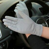 Driving Gloves Full Fingers Anti UV Glove Men Thin Breathable Anti Slip Mittens