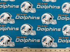 Nfl Miami Dolphins football, 1/4 yard (9� x 57�), 100% Cotton Fabric, New
