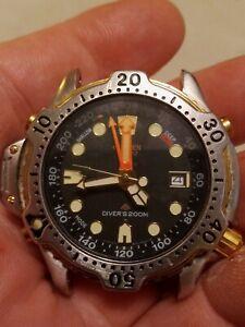 Mens CITIZEN PROMASTER DIVER WATCH 5861-F80057 200M Chronograph