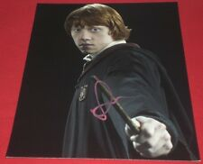 RUPERT GRINT SIGNED POTTER RON READY TO FIGHT W/ WAND PROMO 8X10 PHOTO AUTO COA
