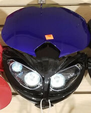 12V Universal Front Light Fairing for Motorcycle Dirt Bike Headlight BLUE-B