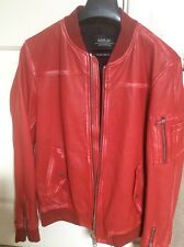 Replay Men's Red Leather Jacket